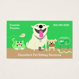 Pet Modell-grünen Visitenkarte