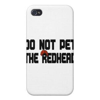 Pet nicht den Redhead mit Perücke iPhone 4/4S Case