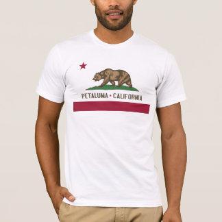 Petaluma: Flagge von Kalifornien-T-Stück T-Shirt