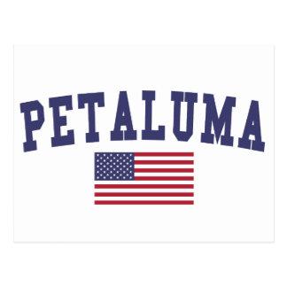Petaluma US Flagge Postkarte