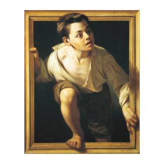 Peter Borrell Del Caso: Entgehende Kritik Galerie Gefaltete Leinwand
