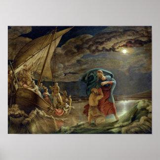 Peter geht auf Wasser, 1806 Poster