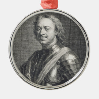 Peter I das große Rundes Silberfarbenes Ornament