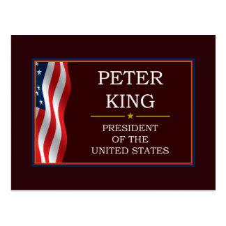 Peter-König für Präsidenten V3 Postkarte