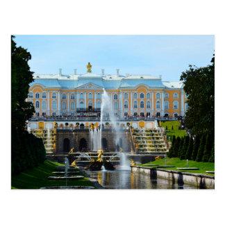 Peterhof Palast-großartige Kaskade, Russland Postkarte