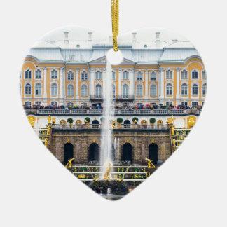 Peterhof Palast und Garten-St. Petersburg Russland Keramik Herz-Ornament