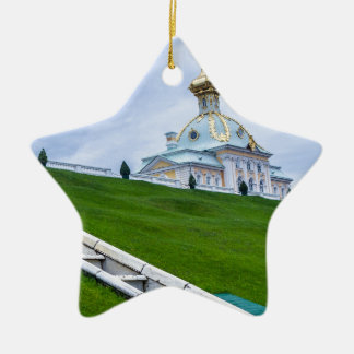 Peterhof Palast und Garten-St. Petersburg Russland Keramik Stern-Ornament