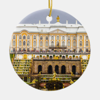 Peterhof Palast und Garten-St. Petersburg Russland Rundes Keramik Ornament