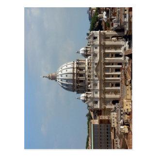 Petersdom in ROM, gesehen vom Dach der Engelsburg Postkarte