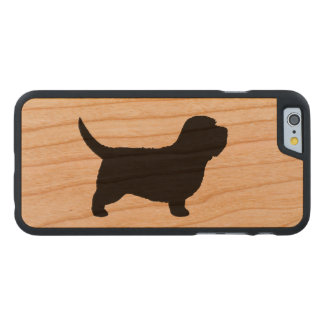 Petit Dachshund Griffon Vendeen Silhouette Carved® iPhone 6 Hülle Kirsche