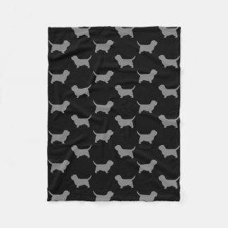Petit Dachshund Griffon Vendeen Silhouette-Muster Fleecedecke