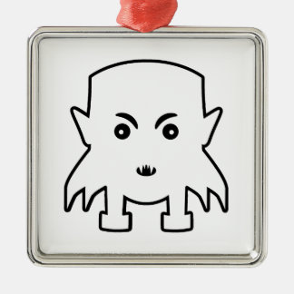 Petit Vampire-Cartoon-Illustration Silbernes Ornament