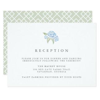 Petite Blumenstrauß-Empfangs-Karte| Cornflower 8,9 X 12,7 Cm Einladungskarte