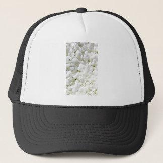 Petite weiße Hydrangea-Blume Truckerkappe