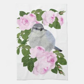 """PetitRose """"kleiner Vogel und Rosen"""", Küchen-Tuch Geschirrtuch"""