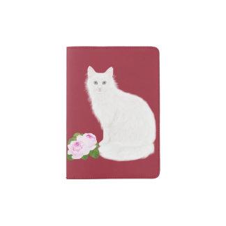"""PetitRose """"weiße Katze"""", Pass-Halter Passhülle"""