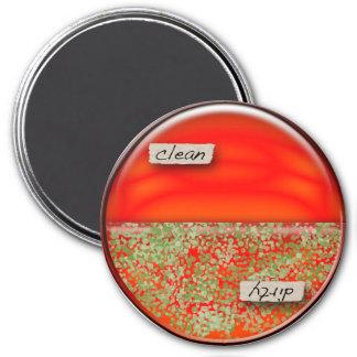 Petrischalen-sauberer/schmutziger Spülmaschinen-Ma Kühlschrankmagnete