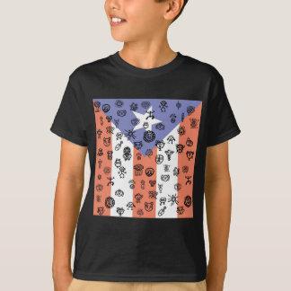 Petroglyphed Flagge T-Shirt