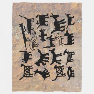 Petroglyphesammlung Hunde und Kojoten Fleecedecke