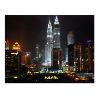 Petronas-Twin Tower - Malaysia Postkarte