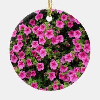 Petunien und Rasen Keramik Ornament