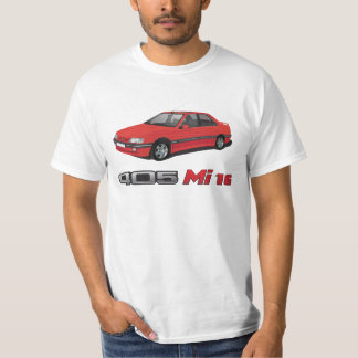 Peugeot 405 +  Rotes Abzeichen MI 16, Rot, DIY T-Shirt