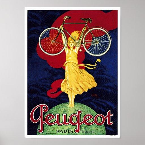 Peugeot-Zyklen - Vintages Fahrrad-Plakat