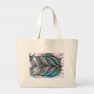Pez sobre colorido fondo abstracto jumbo stoffbeutel