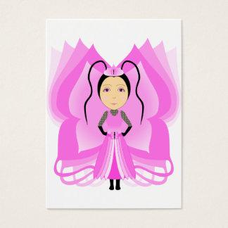 Pezzottaite Schmetterlings-Prinzessin Visitenkarte