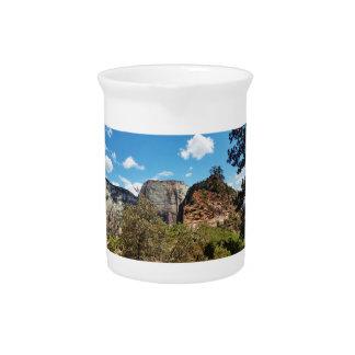 Pfadfinder-Ausblick Zion Nationalpark Utah Getränke Pitcher