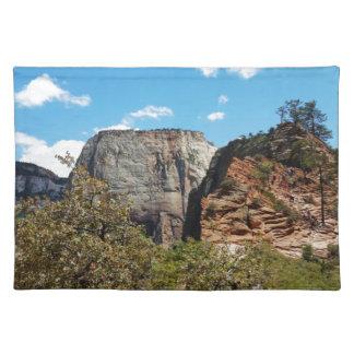 Pfadfinder-Ausblick Zion Nationalpark Utah Stofftischset