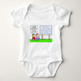 Pfadfinder willigen tapfere vertrauenswürdige baby strampler