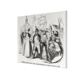 Pfaffentum oder kein Pfaffentum? 1850 Leinwand Druck