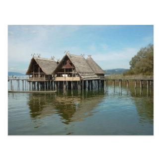 Pfahlbauten - Stelze-Haus-Museum Unteruhldingen Postkarte