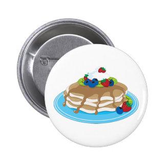 Pfannkuchen-Frucht Runder Button 5,7 Cm