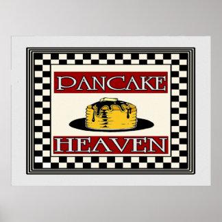 Pfannkuchen-Himmels-Zeichen Poster