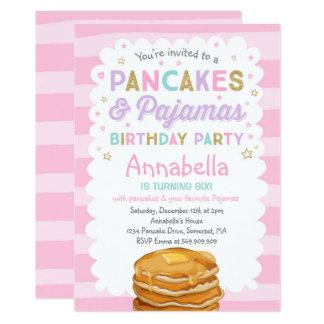 Pfannkuchen Und Party Pyjama Geburtstags Einladung Karte