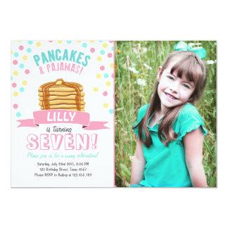 Pfannkuchen-und Pyjama-Geburtstags-Party Einladung