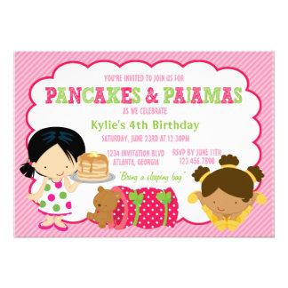 Pfannkuchen und Pyjamassleepover-Party