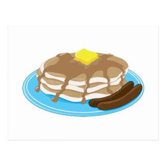 Pfannkuchen-Wurst Postkarte