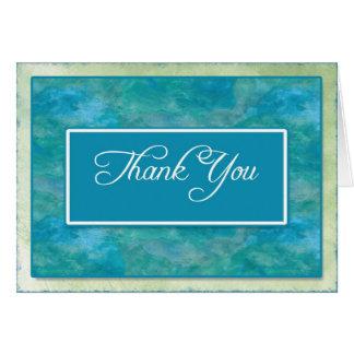 Pfau-Blau-Geschäft danken Ihnen Anmerkungen Karte