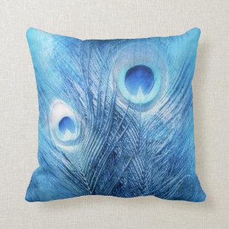 Pfau-Blau Kissen