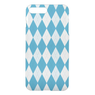 Pfau-Blau-Rauten-kleine Diamant-Form iPhone 8 Plus/7 Plus Hülle