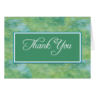 Pfau-Blau-u. Grün-Geschäft danken Ihnen Karte