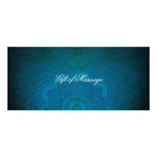Pfau-Blau-Zen-Mandala-Geschenkgutscheine Kartendruck