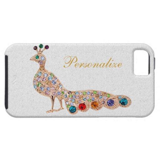 Pfau-Diamant-Juwel-Foto-Druck iPhone 5