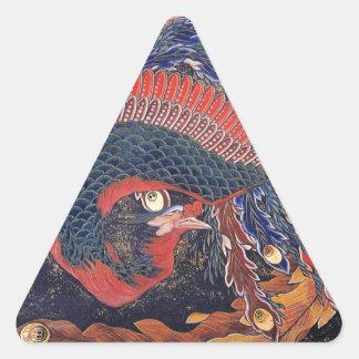 Pfau Dreieckiger Aufkleber
