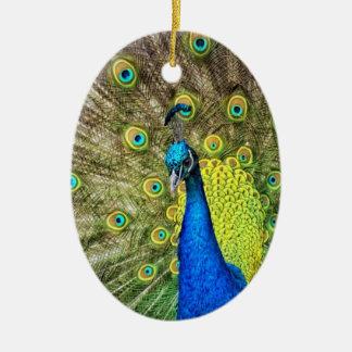 Pfau-Farbschönheit Keramik Ornament