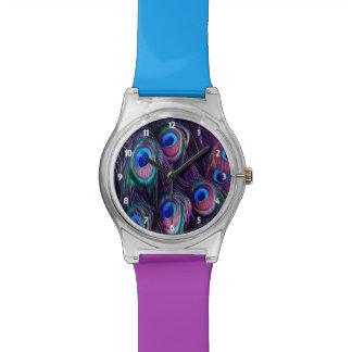 Pfau-Feder Armbanduhr