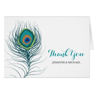 Pfau-Feder danken Ihnen Karte